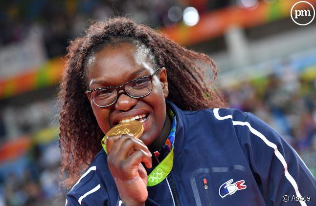 Emilie Andéol lors de son sacre olympique en 2016