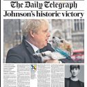 "Boris Johnson triomphe à la Une du ""Daily Telegraph"""