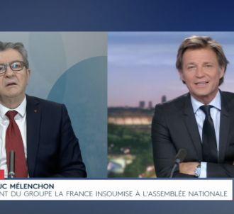 Jean-Luc Mélenchon agacé par Laurent Delahousse