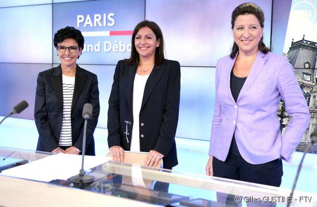 Les trois candidates à la mairie de Paris