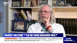 """""""Ca ne vous regarde pas !"""" : Didier Raoult s'agace après une question posée par Bruce Toussaint sur BFMTV"""