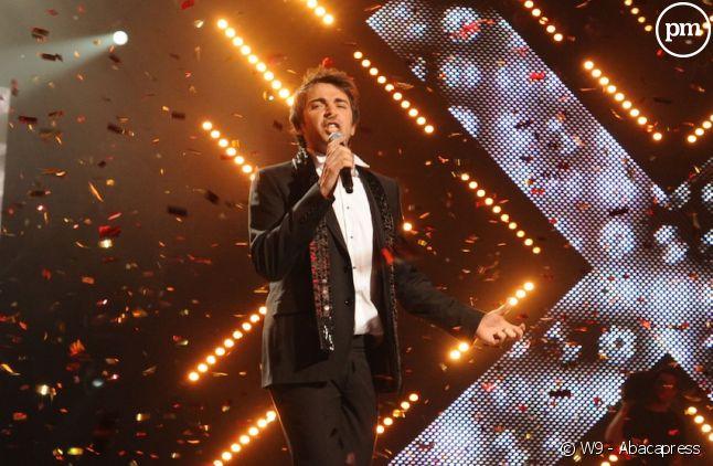 "Sébastien Agius lors de la finale de ""X-Factor"" sur W9"