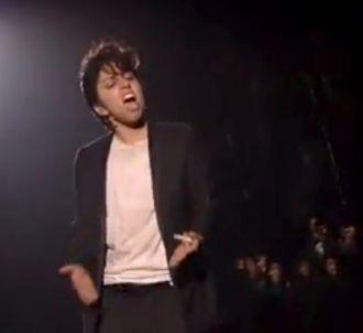 Lady Gaga en Jo Calderone sur la scène des MTV Video...