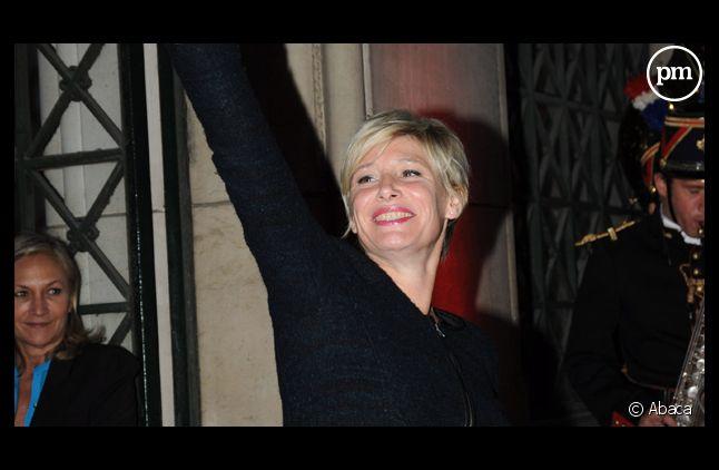 """Maïtena Biraben, à la """"Garden Party"""" de Canal + le 29 août 2011."""