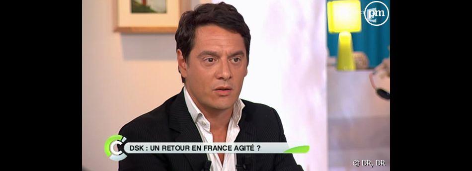 Patrick Cohen et David Koubbi sur France 5, le 30 août 2011.