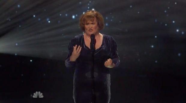 Susan Boyle sur le plateau de
