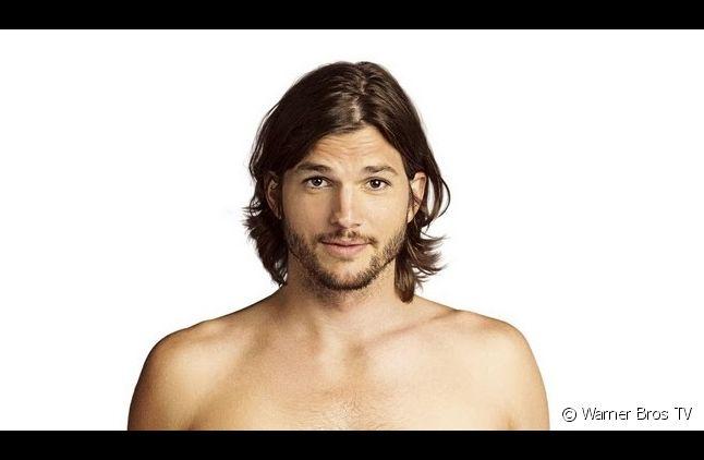 """Ashton Kutcher sur une affiche promotionnelle de """"Mon Oncle Charlie"""" saison 9"""