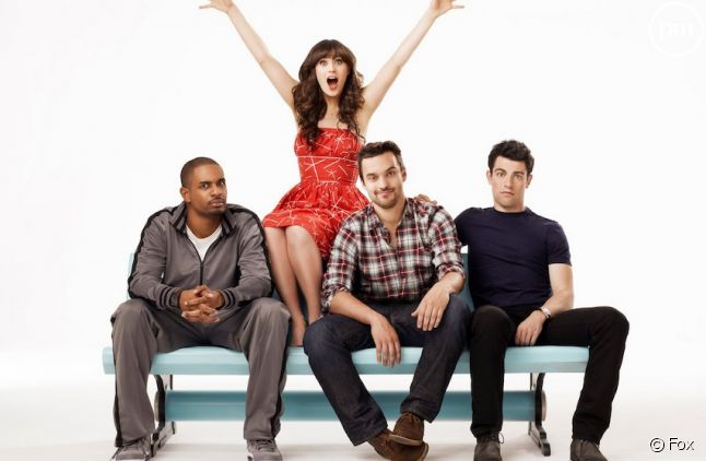 "Le cast de ""New Girl"""