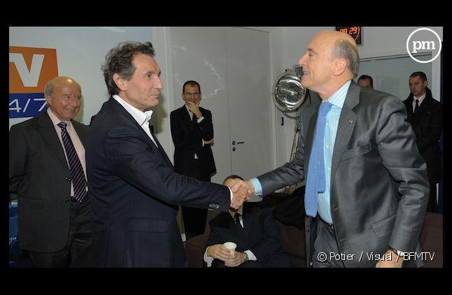 Jean-Jacques Bourdin reçoit Alain Juppé le 17 novembre 2011 sur BFM TV