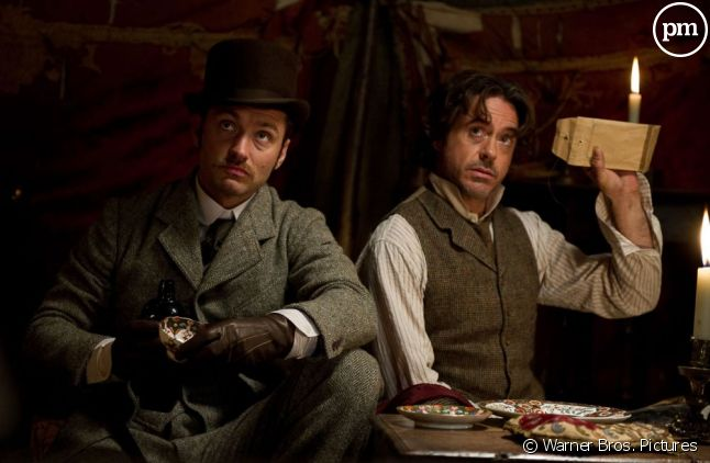 "Jude Law et Robert Downey, Jr. dans ""Sherlock Holmes 2 : Jeu d'ombres"""