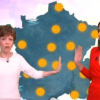 Zapping : Catherine Laborde donne un coup de main à la miss météo de Canal+