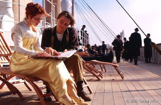"Kate Winslet et Leonardo DiCaprio dans ""Titanic"""