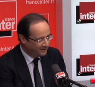 François Hollande, invité de France Inter le 18 avril...