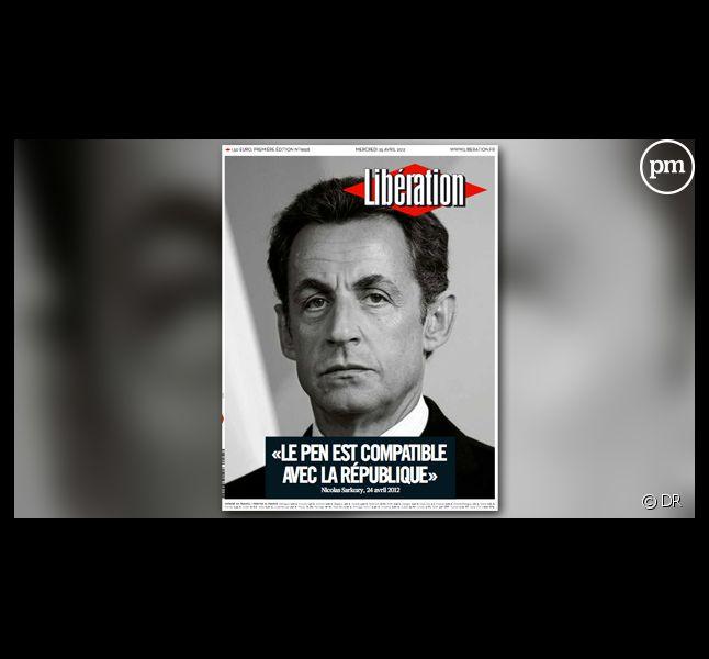 La Une de Libération du 25 avril 2012.