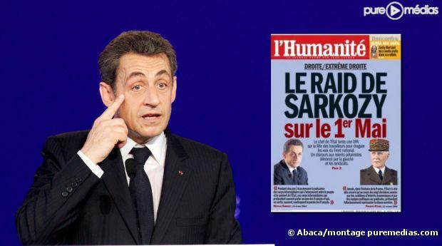 Nicolas Sarkozy en Une de L'Humanité