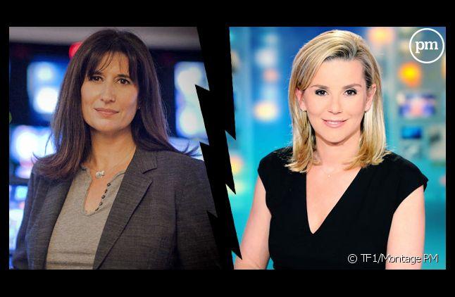 Catherine Nayl, directrice de l'information de TF1 et Laurence Ferrari.