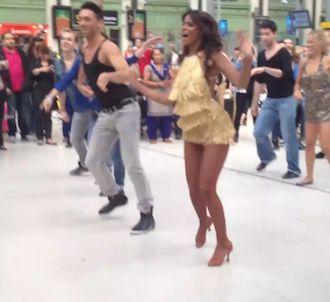 Shy'm a lancé un flashmob en pleine Gare de Lyon le...