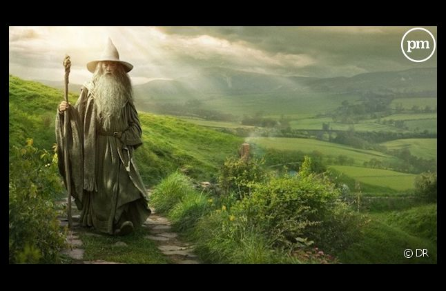 """Affiche promotionelle de """"Bilbo le Hobbit : un voyage inattendu"""""""