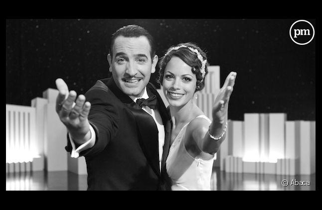 """Jean Dujardin et Bérénice Bejo dans """"The Artist"""", récompensé aux Golden Globes 2012"""