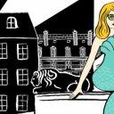Catherine Deneuve dessinée par Marjane Satrapi pour les 160 ans du Bon Marché.