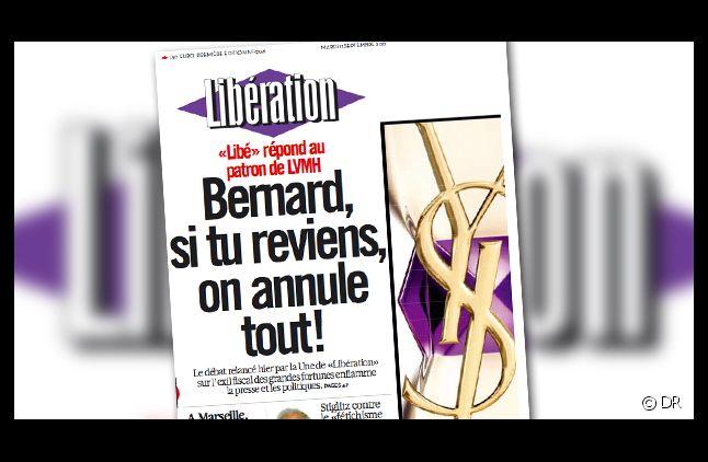 Libération répond à Bernard Arnault dans son édition du 11 septembre 2012.