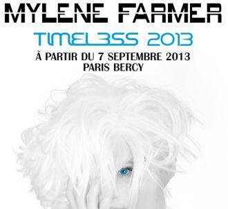 L'affiche de la nouvelle tournée Mylène Farmer.