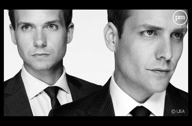 """Patrick J. Adams et Gabriel Macht dans """"Suits"""""""