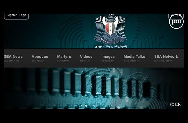 Capture d'écran du site de l'Armée électronique syrienne
