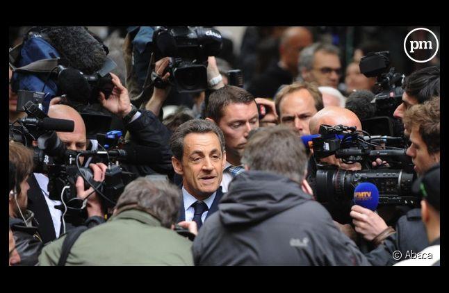 Nicolas Sarkozy était toujours entouré de caméras