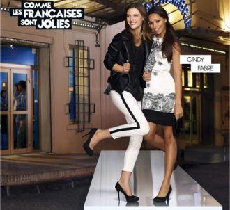 Cindy Fabre et Delphine Wespieser dans une publicité pour...