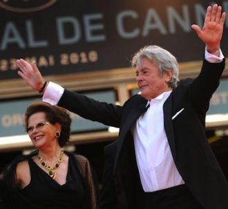 Alain Delon sur les marches de Cannes en 2010