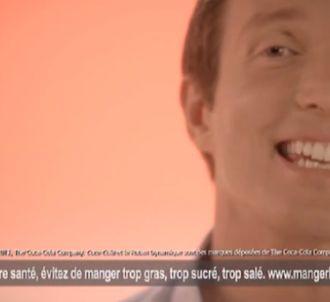 Stéphane Rotenberg dans une pub Coca Cola.