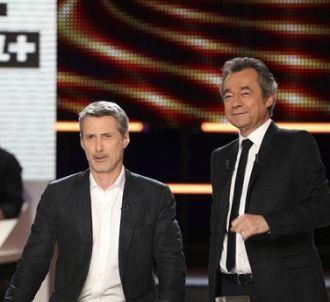 Antoine de Caunes et Michel Denisot au 'Grand journal' de...