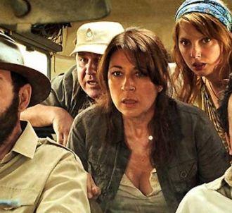 Valérie Benguigui avec Kad Merad, Lionel Abelanski et...