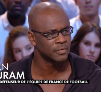 Lilian Thuram, dans 'Le Grand Journal' de Canal+ le 17...