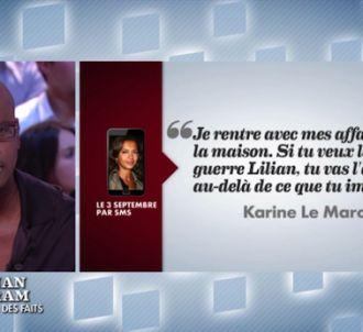 Le SMS de Karine Le Marchand à Lilian Thuram.