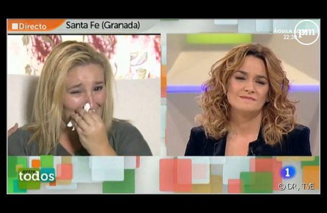 """Une participante en larmes de l'émission espagnole """"Entre Todos"""""""