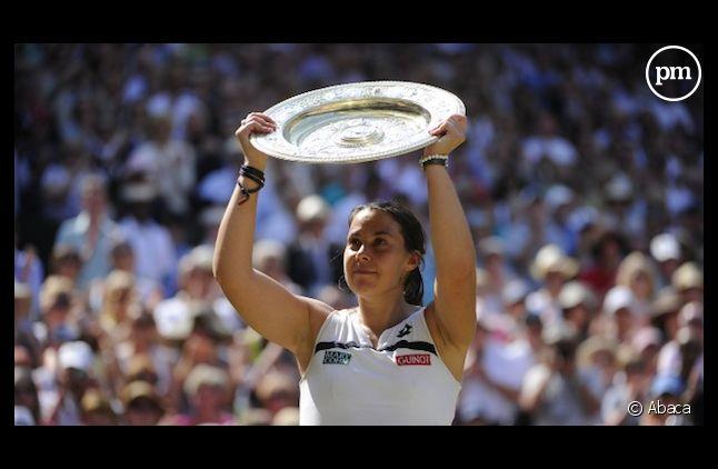 Marion Bartoli a remporté cette année le tournoi de Wimbledon.