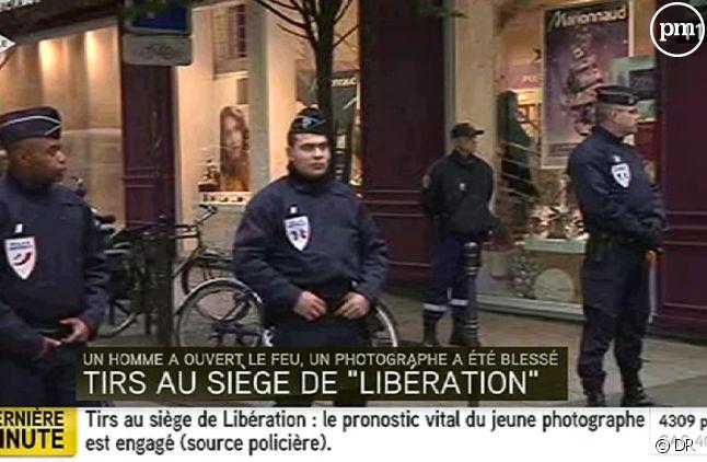 Le siège de Libération, ce matin.