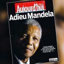 Mort de Nelson Mandela : la Une du Parisien/Aujourd'hui en France.