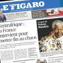 Mort de Nelson Mandela : la Une du Figaro.