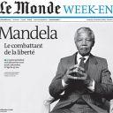 Mort de Nelson Mandela : la Une du Monde, daté de ce week-end.