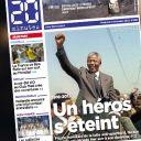 Mort de Nelson Mandela : la Une de 20 minutes.