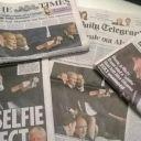 Les Unes de plusieurs journaux en Grande-Bretagne