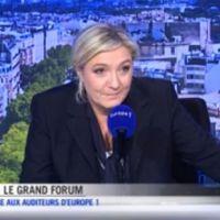 Marine Le Pen menace en direct d'attaquer en justice une spectatrice d'Europe 1