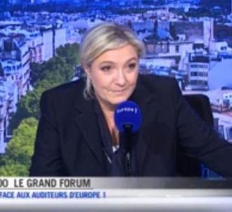 Marine Le Pen dans 'Le Grand Forum' d'Europe 1