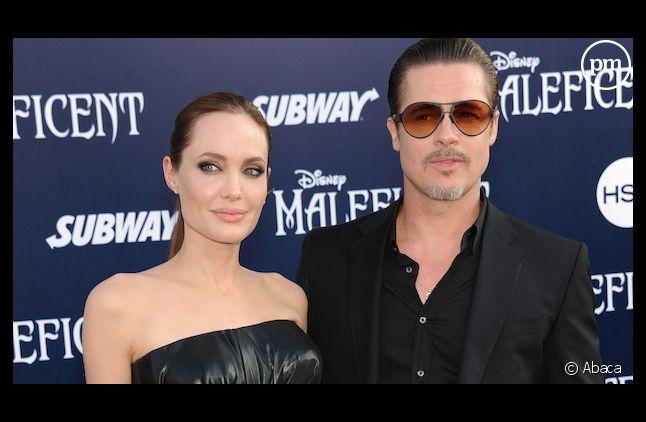 """Brad Pitt et Angelina Jolie sur le tapis rouge de """"Maléfique"""""""