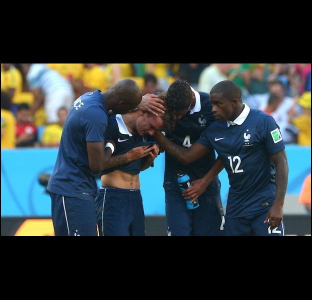Antoine Griezmann en larmes après le coup de sifflet final