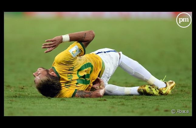 Neymar s'est blessé vendredi en quart de finale