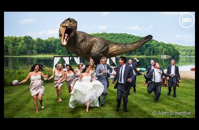 Jeff Goldblum de retour à Jurassic Park pour une photo de mariage